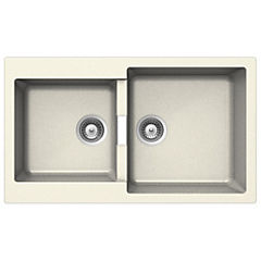 Lavaplatos 30,4x50x86 cm granito Blanco