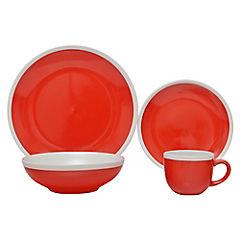 Juego de Vajilla 30 Piezas 2 tonos Rojo