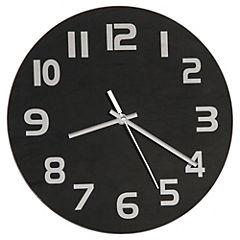 Reloj vidrio 30 cm negro