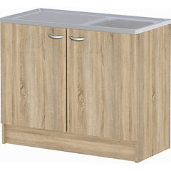 Mueble base lavaplatos 100x47x82 cm OAK