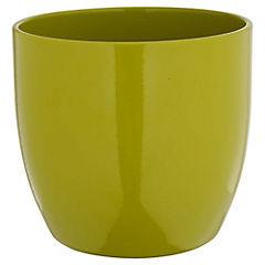 Macetero Basel verde lima 14 cm