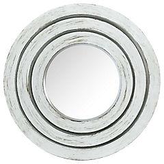 Set de 3 espejo redondo blanco