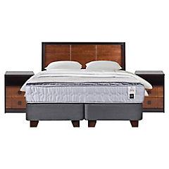 Box Spring Zen 1 King + Con Muebles y Textil