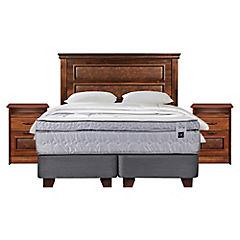 Box Spring Zen 3 2 plazas + Con Muebles y Textil