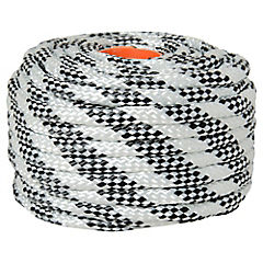 Nylon trenzado 10mm x 20mts blanco