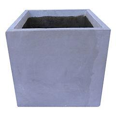 Macetero Cemento Cubo Gris 30 x 30 x 30 cm