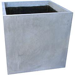 Macetero Cemento Cubo Gris 40 x 40 x 40 cm