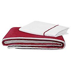 Quilt con textil 1,5 plazas rojo beige