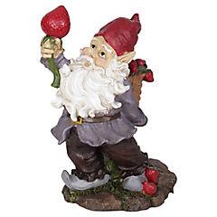 Gnomo para jardín de cerámica 32,8 cm