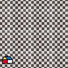 Cerámica 36 x 36 cm Cuadros Negro 1.81 m2