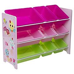 Organizador 9 cajas 60x30x84 cm rosado