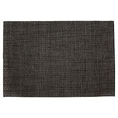 Individual 45x30 cm pvc blanco-negro