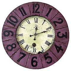 Reloj madera morado 80 cm