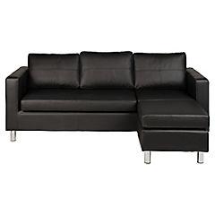 Sofá seccional negro 3 cuerpos