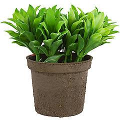 Planta artificial 11x15 cm con macetero