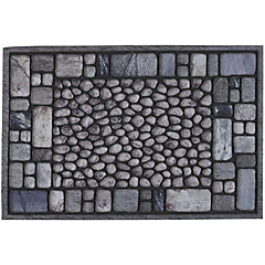 Limpiapiés Piedras gris 40x60 cm