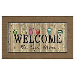 LIMPIAPIE WELCOME BUHOS 45X75
