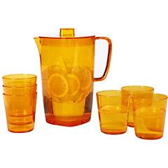 Set Jarro + 6 Vasos Acrilico