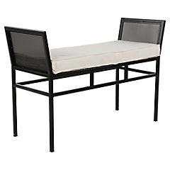 Banqueta metal 95x40x68 cm negro