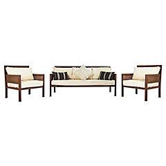 Living 3 piezas 1 sofa 2 sillones oxido