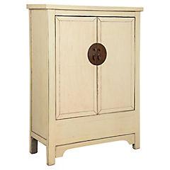Mueble madera 102x40x132 cm beige