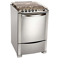 Cocina a gas 4 quemadores 67 litros plateado