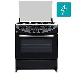Cocina a gas 6 quemadores 102 litros negro