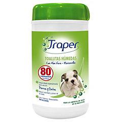 Toallitas húmedas para mascota 80 unidades
