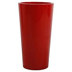 Macetero tuit con contenedor 33 x 33 x 61 cm rojo
