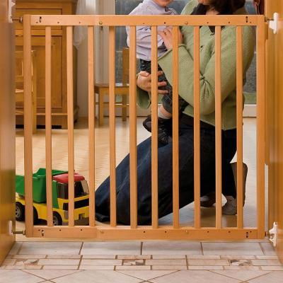 Puerta de seguridad para ni os 90x80 cm madera natural for Puerta seguridad perros