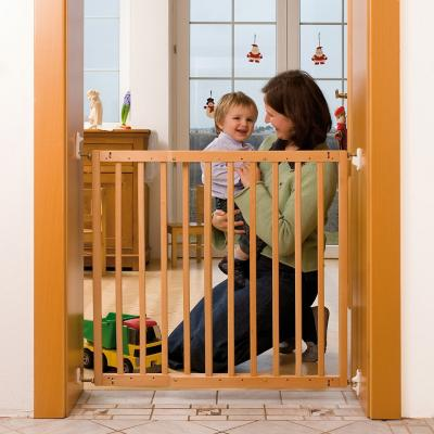 Puerta de seguridad para ni os 90x80 cm madera natural - Puertas para ninos ...