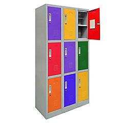 Office Lock 3 Cuerpo Triple De Colores Con Llave