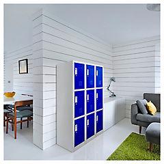 Office Lock 3 Cuerpos Triple Azul Con Llave
