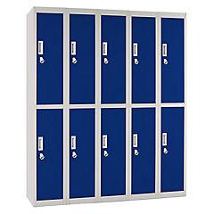 Office Lock 5 Cuerpos Dobles De Azul Con Porta Candado
