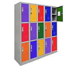 Office Lock 5 Cuerpos Triples De Colores Con Porta Candado