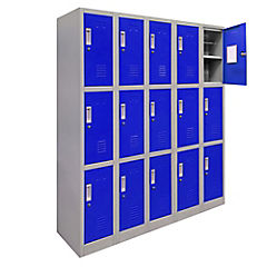 Office Lock 5 Cuerpos Triples De Azul Con Llave