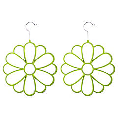 Set 2 Colgadores Panuelo Flor Verde