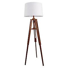 Lámpara de pie Tripode madera 1 luz