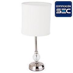 Lámpara de mesa metal Tel 1 luces beige