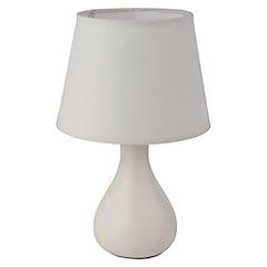 Lámpara de mesa redonda beige 1 luz
