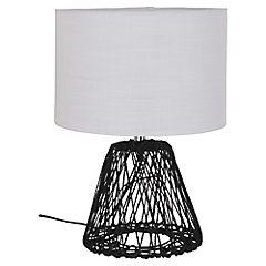 Lámpara de Mesa Cordel Café 1 luz