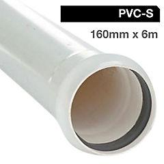 Tubo PVC sanitario para cementar 160 mm 6 m