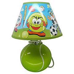 Lámpara de mesa infantil 27x20 cm 40 W Verde