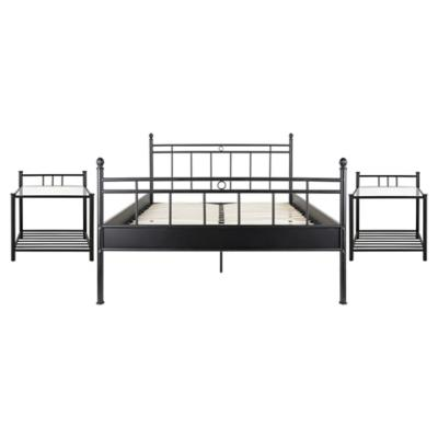 Combo cama metal 2 plazas 2 veladores for Sofa cama sodimac