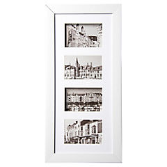 Marco foto 3D 4x10x15 blanco