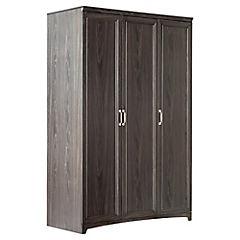 Clóset 3 puertas 120 x 56 x 184 cm Chocolate Oscuro