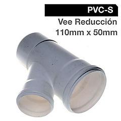 Vee PVC sanitario 110 x 50mm goma