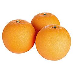 Naranja Decorativa Malla 3 Unidades