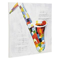 Óleo 60 x 60 x 2.8 cm Saxofón