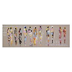 Óleo Africanas 40 x 120 x 2.8 cm